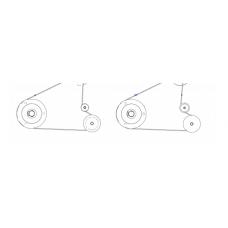 Механизм / Перемоточная система в сборе (Kit Rewind Drive System (includes pulleys and drive belts)) |  PN: P1006071