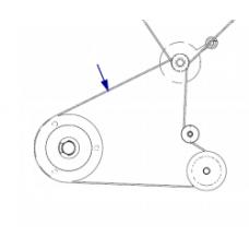 Ремень приводной намотчика этикеток, зубчатый, 110Xi (203 & 300 dpi), 140Xi (203 dpi), 170Xi (203 & 300 dpi), 220Xi (203 & 300 dpi)  (Media Rewind Belt) |  PN: P1006072