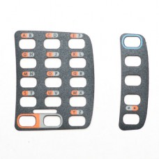 Наклейка (комплект) на клавиатуру (2 TAB) (синий контур на 5 клав.) (Overlay kit. Includes: 5-key & 15-key overlays. Version: 2-Tab) |  PN:
